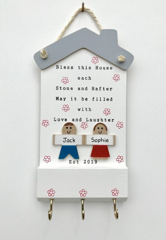 Bless this House Keyholder 2 Characters Face on View