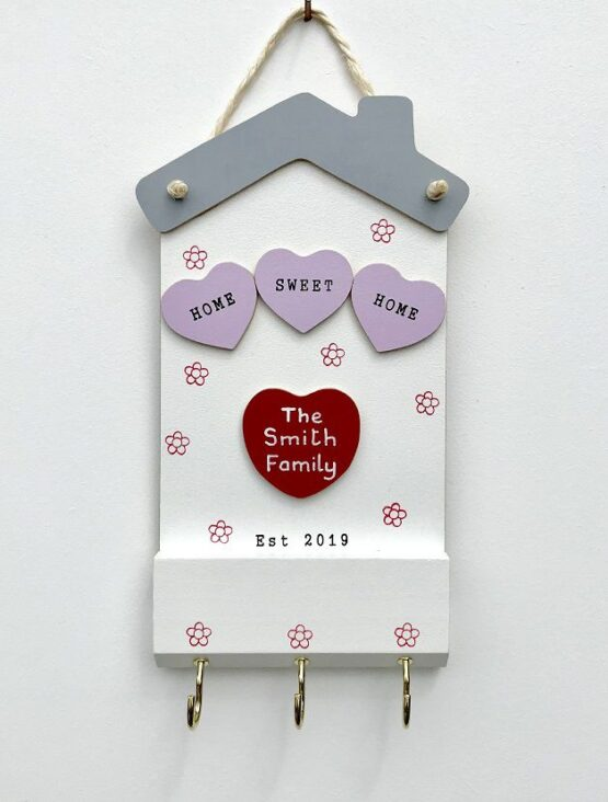 Home Sweet Home Keyholder Single Heart