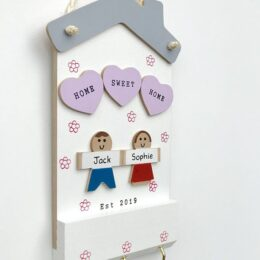 Home Sweet Home Keyholder Two Characters