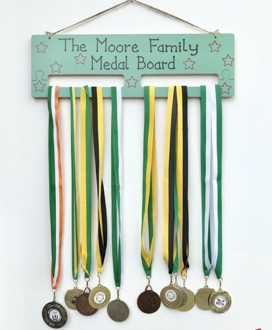 Medal Holder Green Face on View