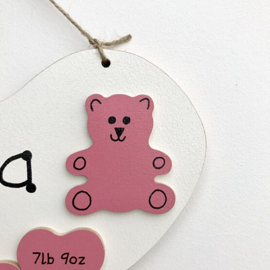 New Baby Heart Pink Teddy