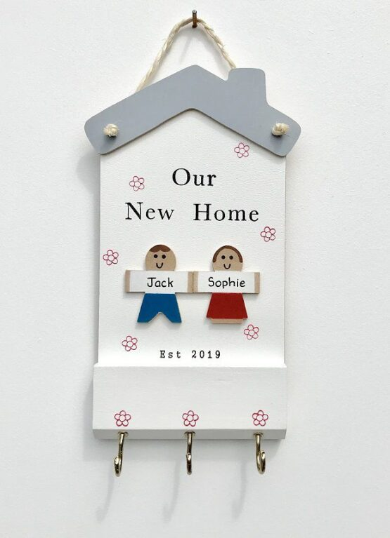 Our New Home 2 Characters Keyholder Face on View