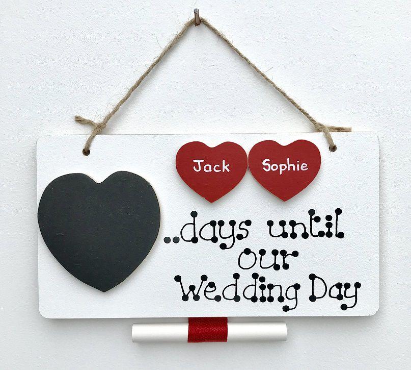 Wedding Countdown Plaque Farna Crafts