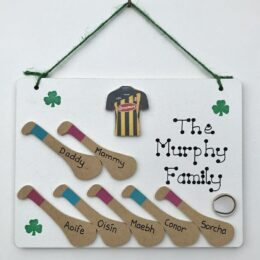 Single Jersey Mini Hurley Plaque