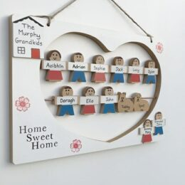 11 Character Family Plaque