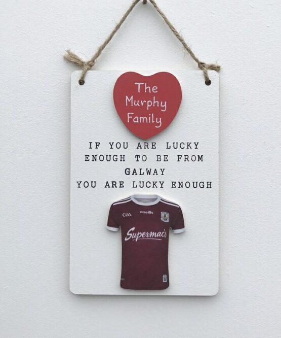 Lucky Enough GAA Plaque