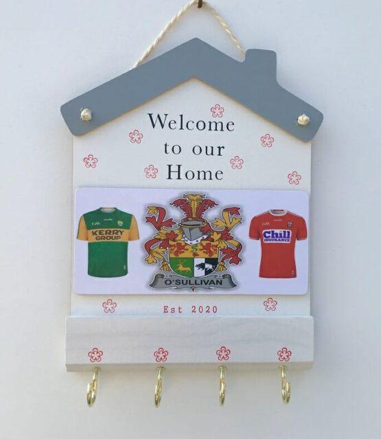Jersey Family Crest Keyholder